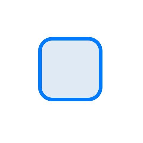 Selected button blue border