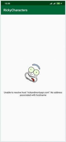 Unable to resolve host error