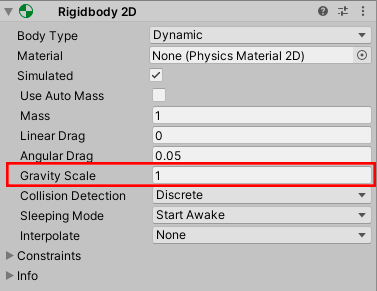 Scaling the Gravity Rigidbody 2d
