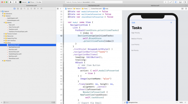TaskList Xcode Project