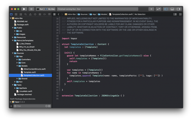 Xcode Model Directory