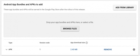 Google play console apk submitted successfully