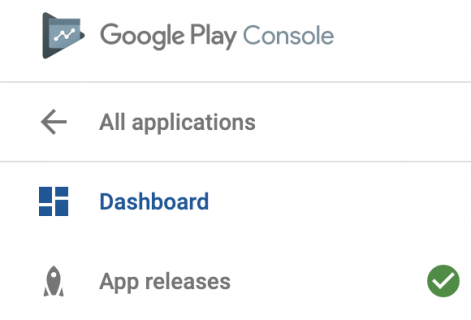 Google play developer console green app releaes checkmark