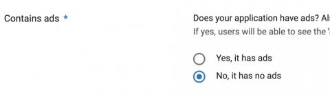 Google play developer console app has no ads