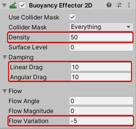 Adjusting the Buoyancy Effector 2D