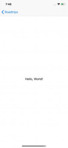 Écran de détail Hello World