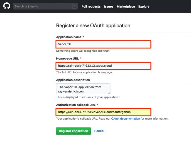New GitHub OAuth