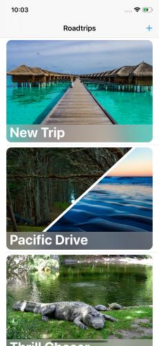 Liste de voyages avec un nouveau voyage ajouté