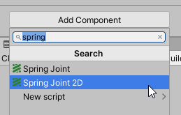 Selecting Spring Joint 2D