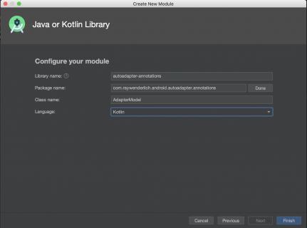 Configuring module settings