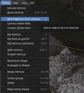 new edge face from vertices in blender