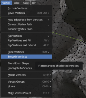 smooth out the vertices
