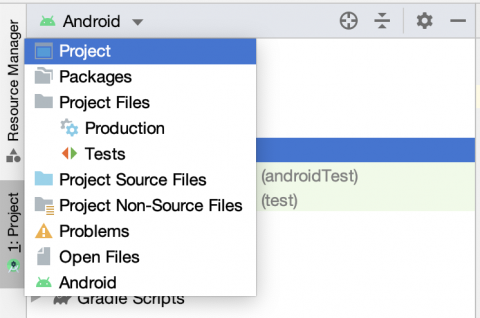 Project View in Android Studio
