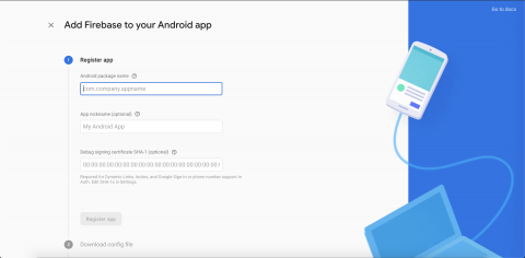 Firebase screen that requests information from your Android app