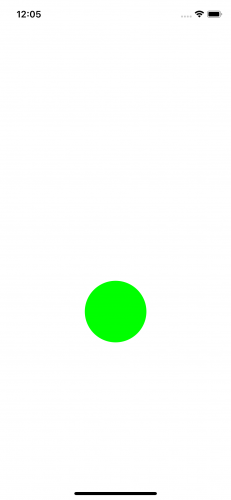 screen with green circle