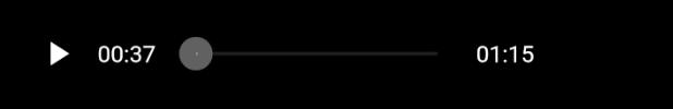 Widget audio avec bouton blanc