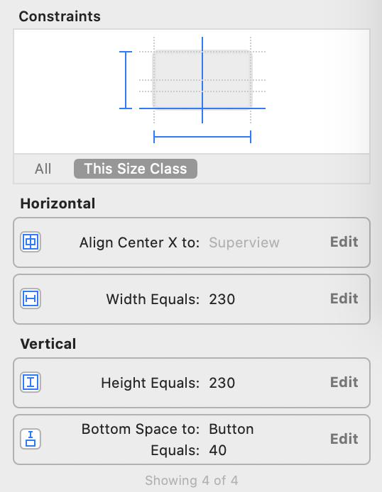 edit constants in size inspector