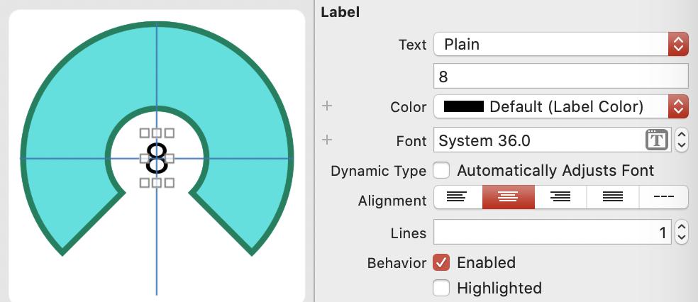change properties in attributes inspector