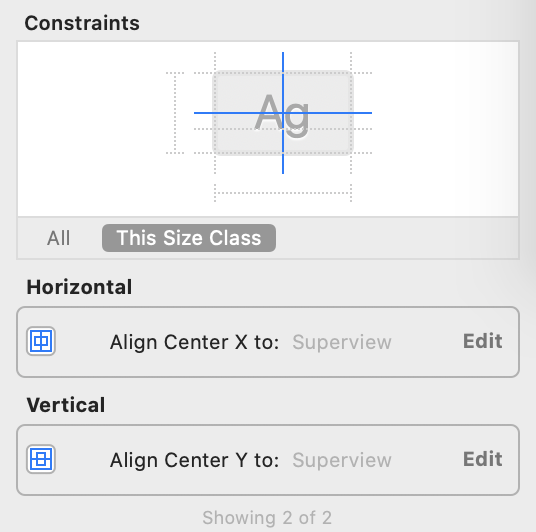 add constraints to label