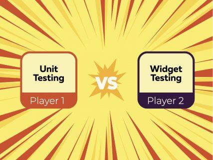 Unit Testing vs Widget Testing