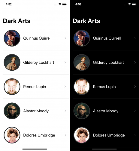 Dark Arts - semantic labels. Fixed in teachers list