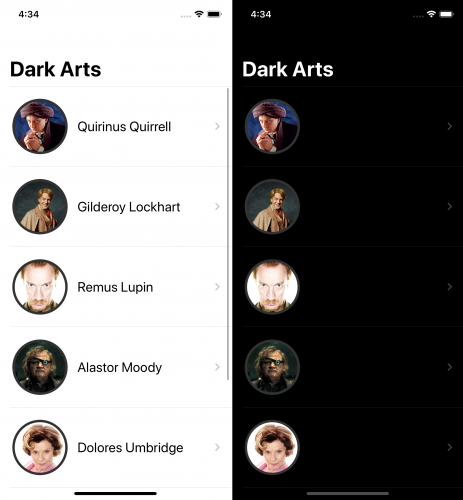 Dark Arts - Background colors - both modes