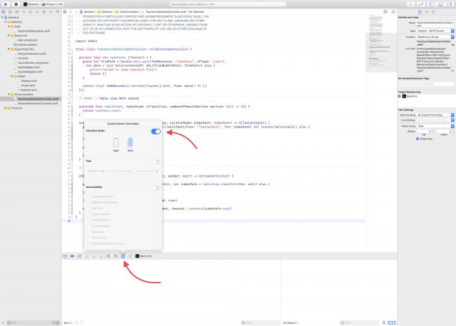 Dark Arts - Xcode - overriding environment