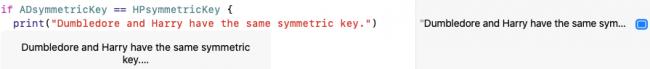 Les clés symétriques dérivées de CryptoKit correspondent.