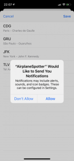 iOS's Notification prompt