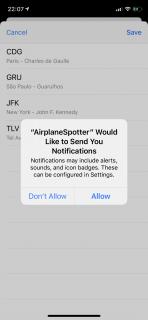 iOS's Notification prompt