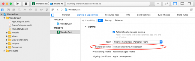 Change the bundle identifier