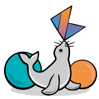 Seal with Kotlin logo