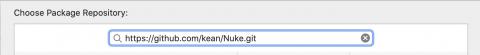 URL Nuke dans SwiftPM Dialogue