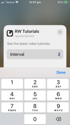 setting a new interval
