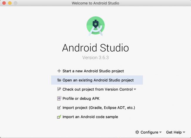 Android Studio 3.6 new project wizard