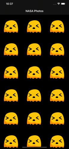 Un petit extraterrestre en colère et frustré apparaît pour chaque image qui ne se charge pas