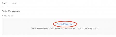 Enable public link.