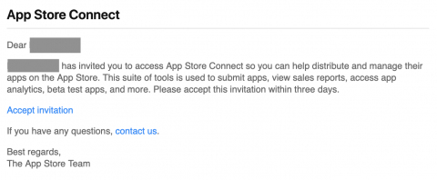 Sample invitation email