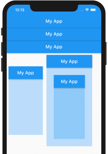 Sample app with nested scaffold widgets