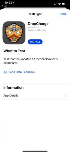 Install through TestFlight