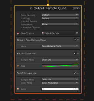The VFX graph output context