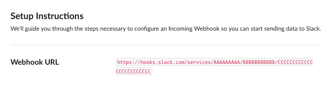 Screenshot of a new WebHook