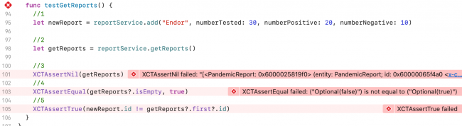 Failed Asserts Get Reports