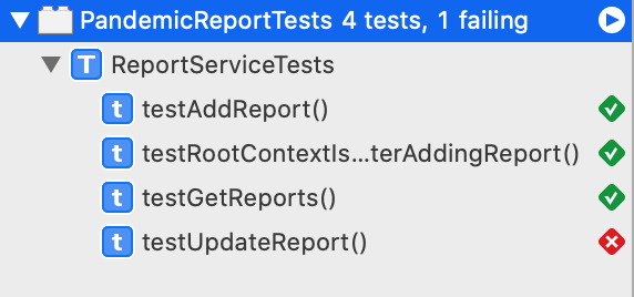 Updated Reports Test Fail