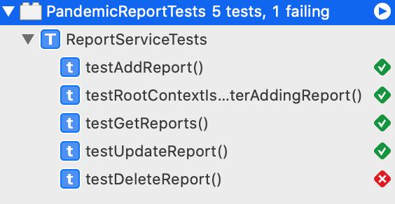 Delete Test Failed