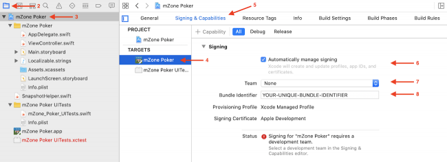 The Signing & Capabilities tab in Xcode 11
