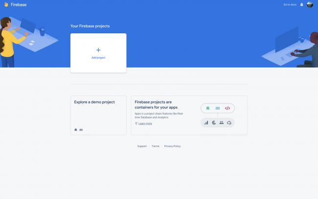 Firebase - Add New Project