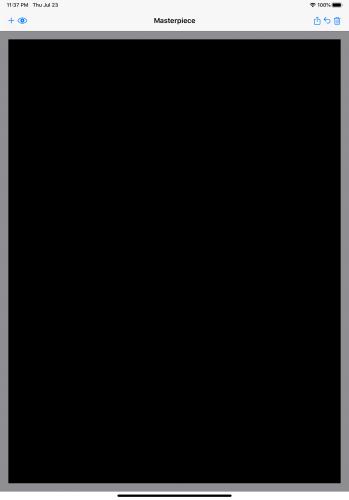 Starter app: empty canvas