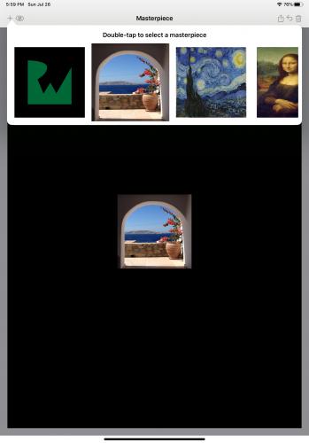 Starter app: masterpiece selection