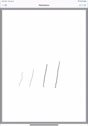 Apple Pencil drawings with various pressure
